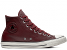 All Star Leather Brown High Top