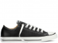 All Star Black Leather Low