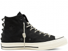 Chuck 70 Nubuck Leather Black High Top