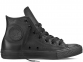 All Star Black Mono Leather High
