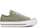 All Star Platform Olive Low-Top