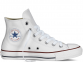 All Star Optical White Leather High